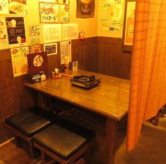各テーブルの間には仕切りをしております♪半個室状態で安心安全にご利用頂けます☆