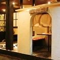 かまくらモチーフの個室は人気のお部屋となっております!是非ご予約の際にお申し付けください。