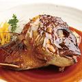 料理メニュー写真鮭ハラス焼/鯛かぶと(焼・煮)/ほたての浜焼/ジャンボ海鮮茶碗蒸し