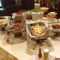 土・日・祝の曜日限定ランチビュッフェ♪ステーキレストランならではの自慢のハンバーグをはじめ日替わりパスタなど料理全8品!