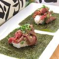 料理メニュー写真手巻き肉寿司