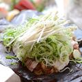 料理メニュー写真ボリューム満点豚肉