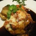 料理メニュー写真ラタトゥイユ・チーズ焼きハンバーグ
