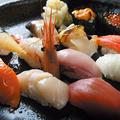 料理メニュー写真握り盛り合わせ  ~小樽運河~12貫