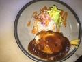 料理メニュー写真チーズハンバーグ定食