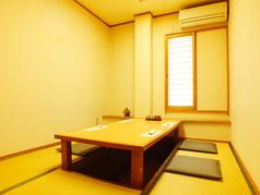 4名様掘りごたつ個室。顔合わせなどの特別なシーンにもご利用頂けます。