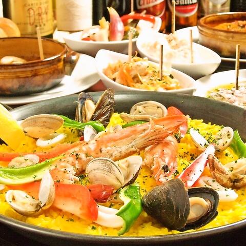 本格スペイン料理が手ごろな価格で楽しめる★ドリンクもお手頃価格1杯450円~♪