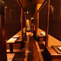 半個室多数ご用意しています!各お席はスクロールカーテンを設置しておりプライベート空間で美味しいお料理を楽しんで頂けます♪