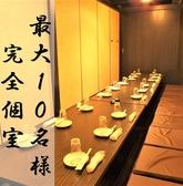 10名様個室 海鮮 食べ放題 3時間飲み放題 梅田 完全個室