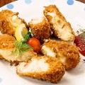 料理メニュー写真若鶏の唐揚げ~スイートチリソースで~/カニグラタンのとろとろクリーミーコロッケ