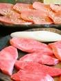熱海で老舗の精肉店が選んだ、A5ランクの上質なカルビです。牛肉の旨みをたっぷり味わって。