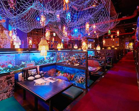 幻想的な空間で、あなたも浦島太郎になった気分になれるかも♪タイムサービス開催中!