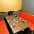 【半個室のテーブル席】