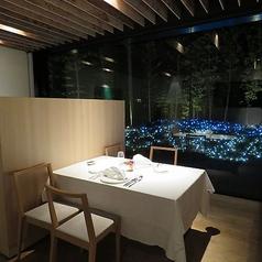 夜はライトアップされた竹林とお庭を眺めながら幻想的な空間とお食事をお楽しみください。