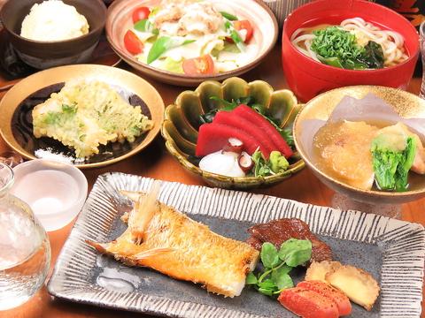 飲み放題付き★うろこ屋 おまかせコース料理  お値段そのままで食事を鯛めしに変更可能。