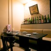 のれんで仕切れる半個室の6名様テーブル席も2卓ご用意!