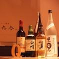 料理に合うお酒もたくさんあります。