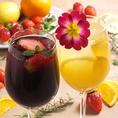 女性が飲みやすい「フルーツサングリア」も多数ご用意。