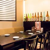 半個室のテーブル席は突発的なお食事にも嬉しい空間