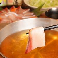 大人気の鮮魚・お肉のねぎしゃぶ鍋&もつ鍋も!!