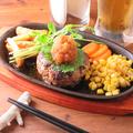 料理メニュー写真自家製手ごねPOWハンバーグ200g(さっぱり大根おろしの和風ソース)