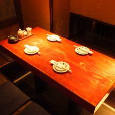 壁際の4名様の席、少人数宴会、プライベート利用にどうぞ♪~恵比寿 貸切 宴会 隠れ家 海鮮居酒屋 じょう はなれ 日本酒 焼き鳥~