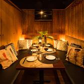 おしゃれな雰囲気漂う素敵な空間を演出致します。女子会やデートなど各種宴会に最適です。半個室でゆったりと語りながら、当店自慢の料理を思う存分お楽しみ頂けます。