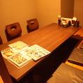 仕切られた個室空間