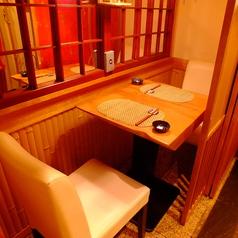 2名様用のテーブル個室。