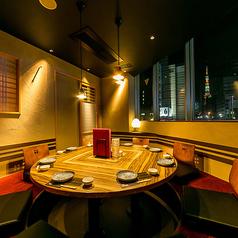東京タワービュー掘りごたつ個室。(最大12名様)