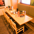 人数に合わせてレイアウト可能なテーブル席♪様々なシーンにご利用可◎