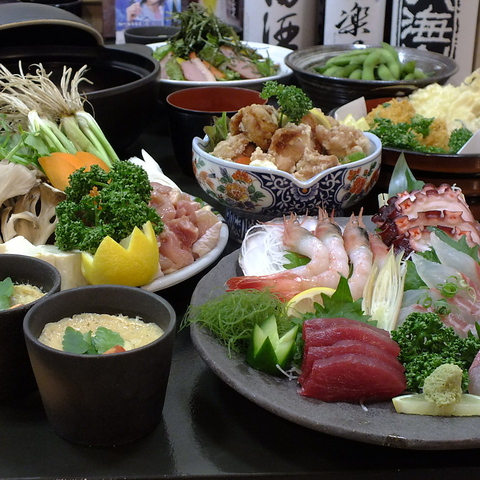蕎麦 海鮮 彩
