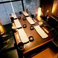 テーブルタイプの個室。接待で可能です。、