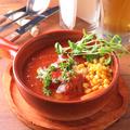 料理メニュー写真トマトたっぷりぐつぐつ煮込みハンバーグ200g