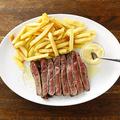 料理メニュー写真牛ロース 赤身ステーキ ビストロスタイル