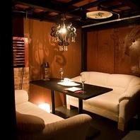 様々なシーンに最適な寛ぎのソファー席個室をご用意