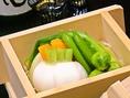 地場の野菜・山菜・果物などを最高の状態で提供