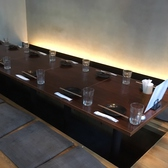 10名程度のご宴会に最適な半個室。天井高の空間なのでゆったりとお過ごしいただけます。