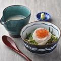 料理メニュー写真鯛出汁で作った鯛といくらのお茶漬け