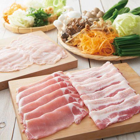 【豚と国産野菜しゃぶしゃぶ】食べ放題コース 2780円(税抜)
