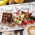 大切な方との誕生日・記念日を≪This Is Cafe清水店≫でいかがでしょうか♪スイーツ代+350円/1人でメッセージ付きデザートプレートのご用意☆おしゃれな空間と落ち着いた雰囲気の中で、本格ドリンクと種類豊富なアラカルトメニューとご一緒にお楽しみください♪※当日のデザートプレートに関しましては店舗へご相談下さい
