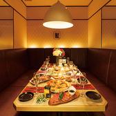 各種シーンで大人気のお部屋!暖かい照明で彩られた癒しのプライベート個室は8名様までご案内可能です♪