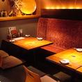 8名様の少人数のお客様に人気のお席です。[居酒屋/渋沢/飲み放題/焼き鳥/女子会]