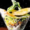 料理メニュー写真温玉シーザーズバゲットサラダ