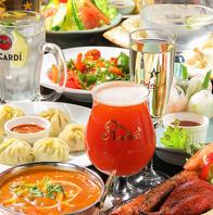 本格カレー&アジアン料理を楽しめます♪