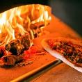 こだわった薪のピザ窯を使用♪本格ピッツァは、イタリアのカプート社のピザ粉を使い、職人さんの手作りですよ☆
