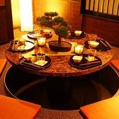 人気の円卓。完全個室の空間でゆったりとしたデート・女子会・飲み会にもぴったり♪大変人気席のため、お早目のネット予約をお勧めいたします。