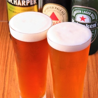 クラフトビールは19種類から毎日最大4種類ご用意◎500円