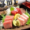 料理メニュー写真こだわりの本マグロ三種盛り(大トロ・中トロ・赤身)