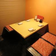 プライベート感のあるゆったり半個室